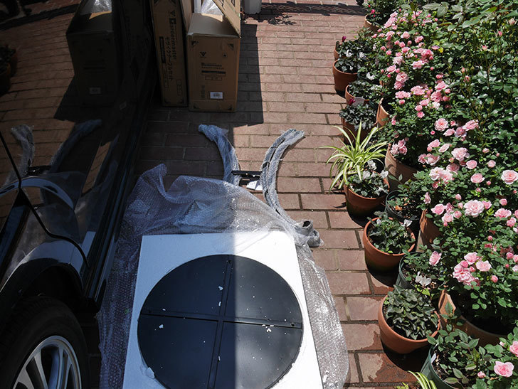 山善(YAMAZEN) ガーデン3点セット モザイク調テーブル&チェア HMTS-50を買った。2020年-004.jpg