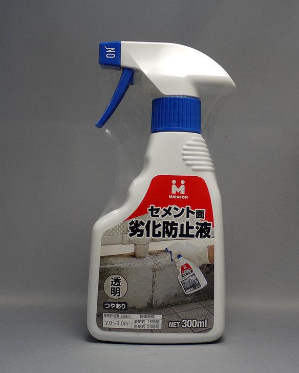 日本ミラコン-セメント面劣化防止液-透明-つやあり-300ml-MR-008をホームズで買って来た1.jpg