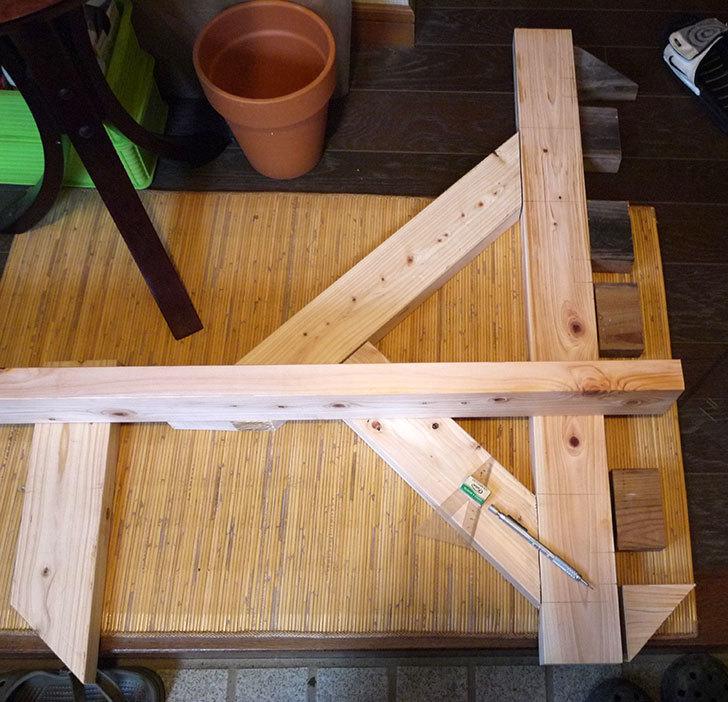 木製の物干し台制作2-2.jpg