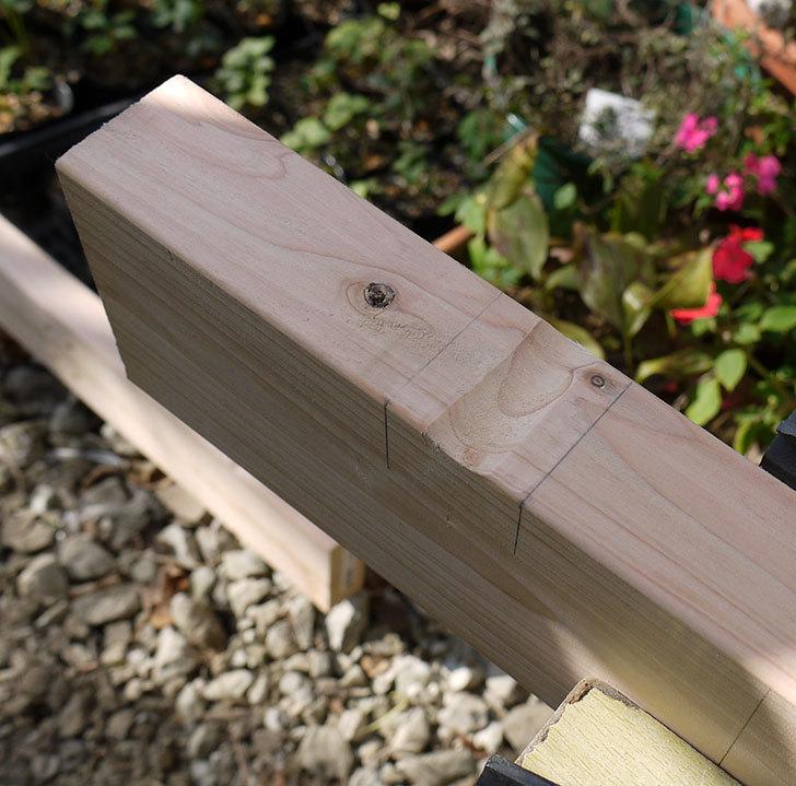 木製の物干し台制作2-8.jpg