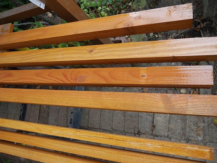 木部保護塗料で塗装した。2020年。バラのフェンス制作(1)-029.jpg