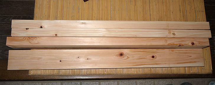 檜のツーバイフォー(2×4)91cmをケイヨーデーツーで4枚買って来た1.jpg