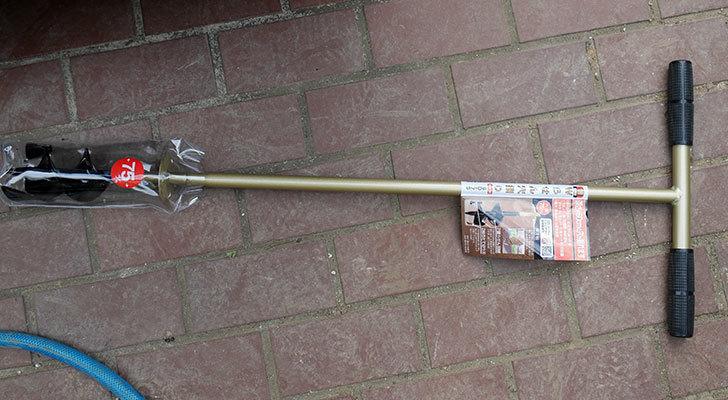 浅香工業-金象印-Wらせん穴掘りSD-75をバラの寒肥作業用に買った2.jpg
