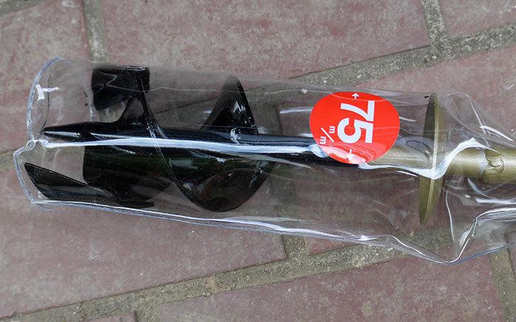 浅香工業-金象印-Wらせん穴掘りSD-75をバラの寒肥作業用に買った4.jpg