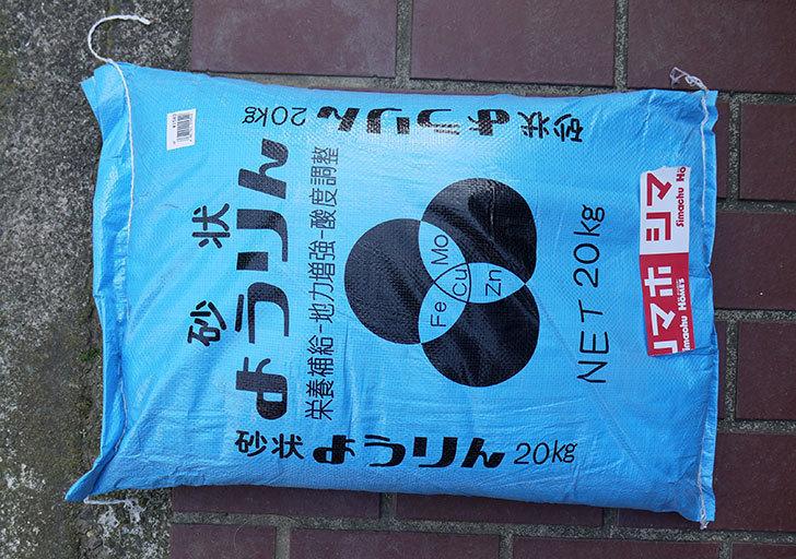 砂状-ようりん-20kgをホームズで買ってきた1.jpg