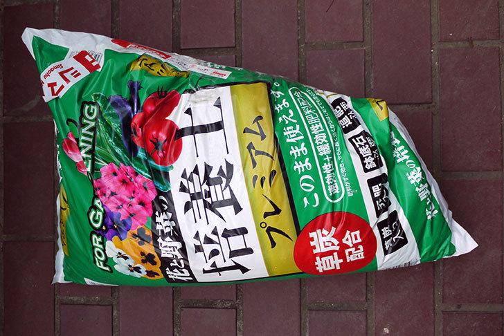 袋破れで安くなっていた、花と野菜の培養土プレミアムをホームズで買ってきた1.jpg