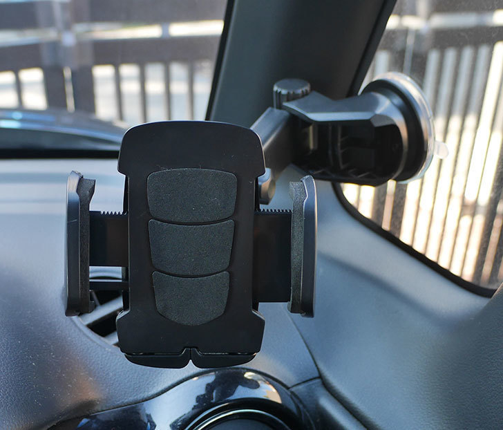 車載ホルダー-ゲル吸盤式-エアコン吹き出し口取り付け-2in1-伸縮アームを買った1.jpg