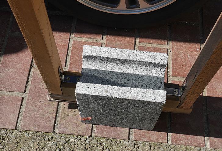 重量半ブロックと角材で転圧機を自作した8.jpg