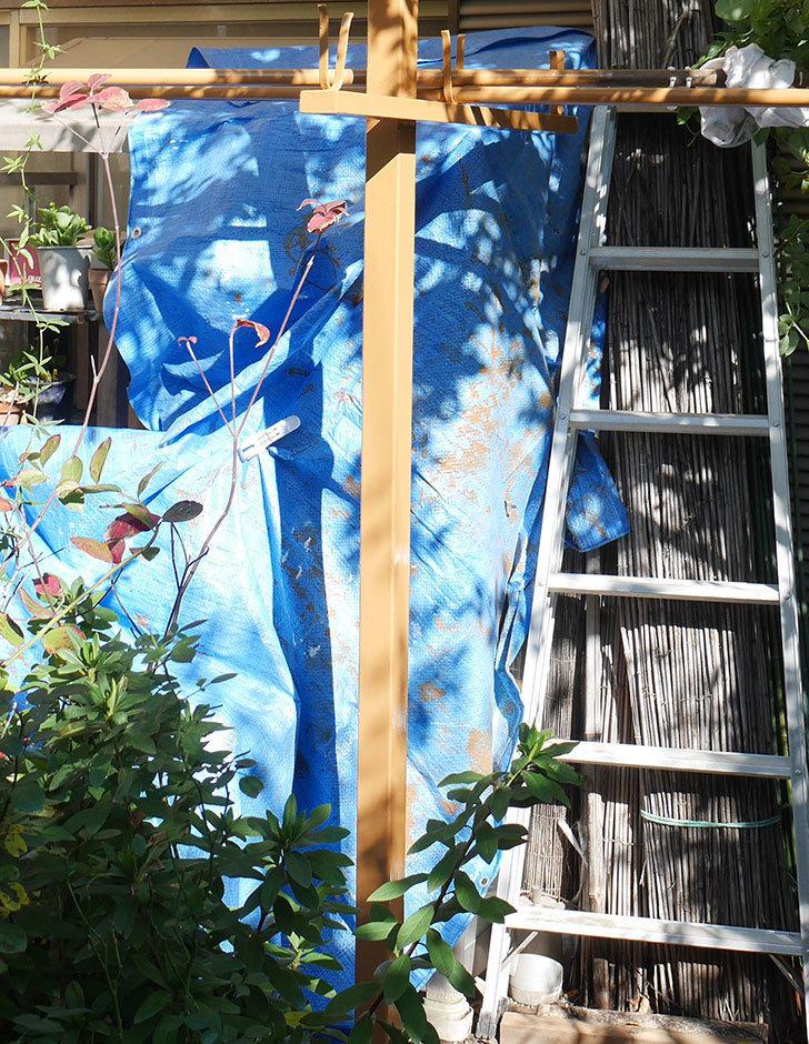 鉄製の物干し台にペンキを塗った。ペンキ塗り2.jpg