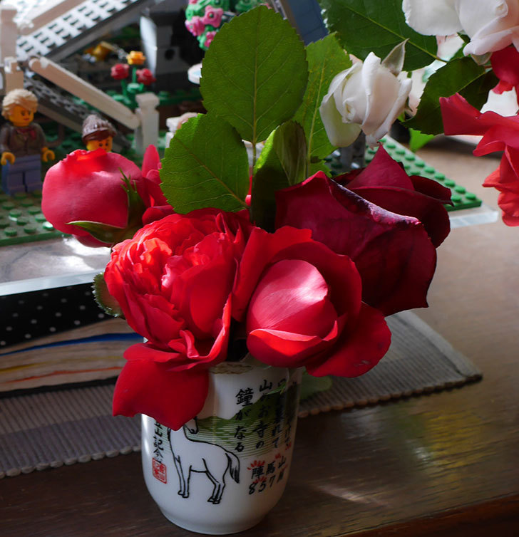 雨の前にバラの花を切ってきた。2019年-5.jpg
