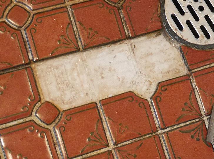 風呂場の床のタイルが剥がれてきたので、おふろば補修剤-BSU-2で直した3.jpg