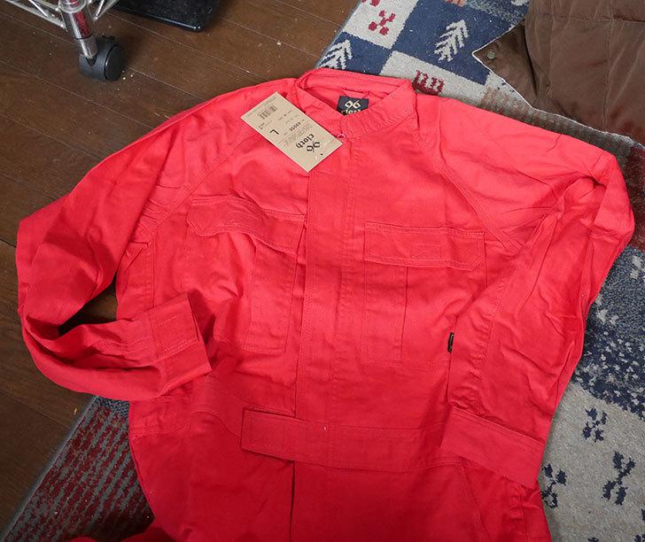 KURODARUMA(クロダルマ)-49056-綿つなぎ-レッド-L-が1,655円だったので買った1.jpg