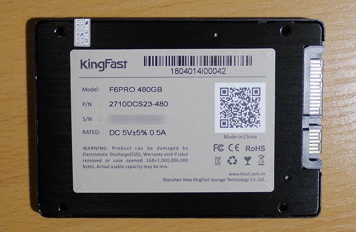 KingFast-F6-PRO-2710DCS23-480を買った5.jpg