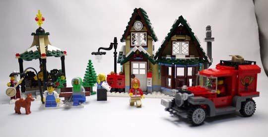 LEGO 10222 ウィンターポストオフィス 作成1.jpg
