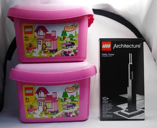 LEGO 4625 ピンクのコンテナと21000 ウィリス・タワー 1.jpg