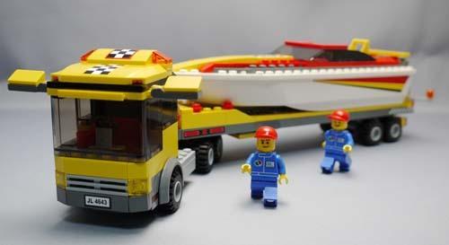 LEGO 4643 パワーボート・キャリアカー作成1.jpg