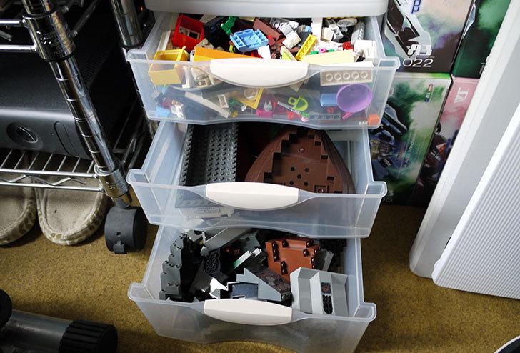 LEGO収納用に小物引出しケース浅2深1段-A4をカインズで買ってきた4.jpg