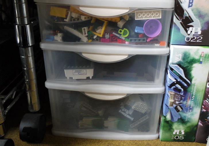 LEGO収納用に小物引出しケース浅2深1段-A4をカインズで買ってきた7.jpg