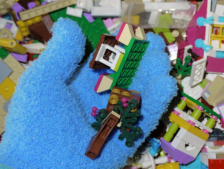 LEGO整理をマイクロファイバー-お掃除手袋を着けながらやるとパーツ掃除もできて便利3.jpg