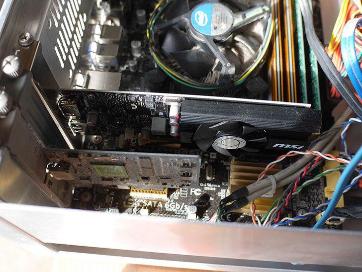MSI GeForce GT 1030 2G LP OC グラフィックスボード VD6348を取り付けた。2020年-002.jpg