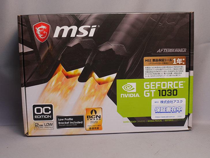 MSI GeForce GT 1030 2G LP OC グラフィックスボード VD6348を買った。2020年-001.jpg