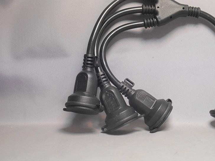 NICOH(ニコー) 防雨型 分配コード 3分配 15A 屋外防雨型の3分配コードを買った-010.jpg