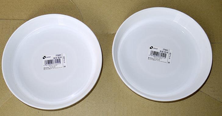 Richell-浅皿5号-ホワイト-77451をケイヨーデイツーで2枚買って来た1.jpg