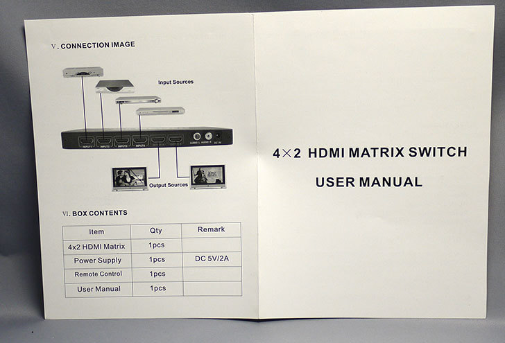 TSdrena-HAM-HI24-Kを買った。4入力2出力対応HDMIマトリクス型分配器14.jpg