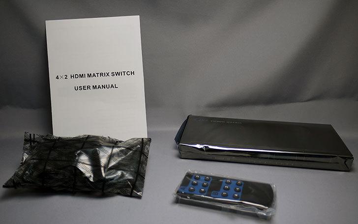 TSdrena-HAM-HI24-Kを買った。4入力2出力対応HDMIマトリクス型分配器4.jpg