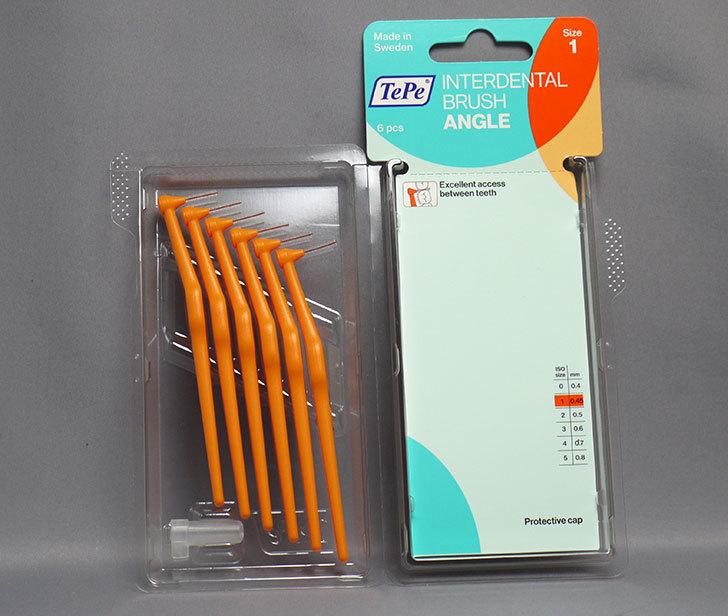 TePe-テペ-アングル-歯間ブラシ 6本入-Size1-オレンジ(0.45mm)を買って来た3.jpg