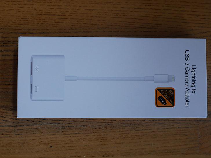 USB カメラ アダプタ OTGケーブル iPhone_iPad専用を買った001.jpg