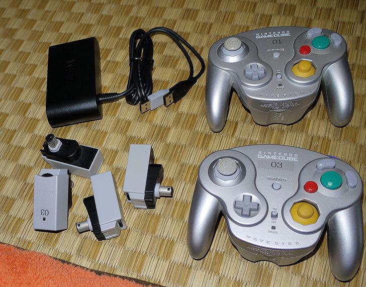 Wii-U用ゲームキューブコントローラ接続タップにウェーブバードを4台接続してみた3.jpg